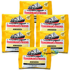 6x Fisherman's Friend Aniseed Menthol Lozenges  25g