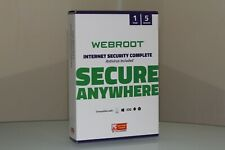 WEBROOT INTERNET SECURITY COMPLETE 5PC 1 YEAR NEW