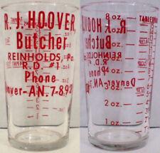 R.J. Hoover Butcher Advertising Measuring Glass