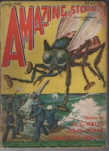 Amazing Stories 1926 July.   Pulp