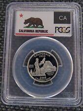 2005-S 25c California SILVER State Flag Label Quarter Proof Coin PCGS PR70DCAM