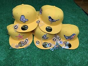 Hat Club Exclusive MLB Pink Lemonade UV New Era 59Fifty Fitted Cap Pinky 7 1/4