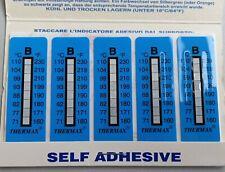 TMC 10 strips THERMAX 8Level Range B 71-110°C/160-230℉,Adhesive Temperature Labe
