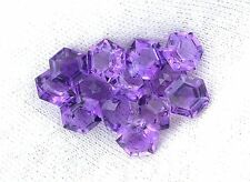 One 6mm Hexagon Star Custom Cut Brazilian Amethyst Gemstone Gem Stone EBS7994