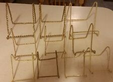 Set Of 10 Metal Easels / Display Stands - Asst Sizes -Gold Twisted