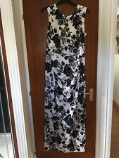 "gina bacconi Size 22 Maxi Dress, Black /White, 62"" Long, nwt"