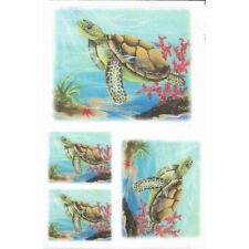 Papier riz 22x32 cm Tortue Fonds marins Decoupage Collage Scrapbooking Carterie