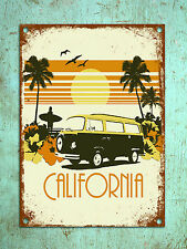 Metal Sign Shabby chic vintage retro style California poster wall door plaque