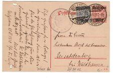 Deutsches Reich, Ganzsache DP 14/02 + ZuF Dienst 60  (128)