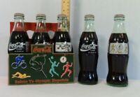 Coca-Cola Coke Vintage 6 pack-1996 Commemorative Atlanta Olympics - Full Bottles