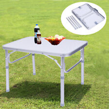Portable Adjustable Height Folding Table Camping Outdoor Picnic Party BBQ cl