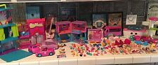 Polly Pocket Dolls Clothes, Cars, Playsets Huge Lot
