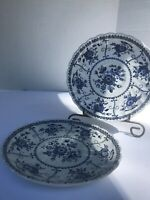 """Pair Vintage Johnson Bros Ironstone """"Indies"""" 5 3/4"""" Saucers Made In England"""