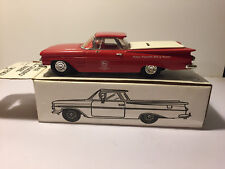 1959 El Camino ~die-cast collector bank. RARE, Brand New~