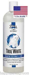 Top Performance DOG CAT PET Pro Formula TRUE WHITE Whitening Brightening SHAMPOO