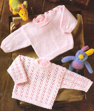 """Dentelle & PICOT bébé pull & plaine version DK 12 """" - 22"""" / prématuré reborn à tricoter"""