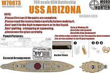 Hunter 1/700 W70073 Wood deck USS Battleship Arizona for Dragon