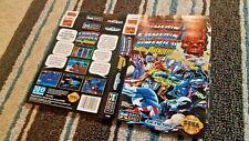 BOX ART ONLY Captain America and the Avengers Original Sega Genesis Case Sleeve