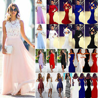 Womens Bridesmaid Wedding Maxi Dress Formal Evening Party Cocktail Prom Dresses