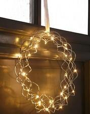 NEU LED Star Lichterkranz Star silber Metall  30 cm   20260