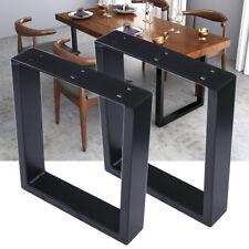 2X Heavy Duty Steel Box Shape Dining Desk Table Legs 40CM Height Black Coated AU