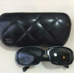 Auth CHANEL CC Logo Sunglasses Black 5144-A c.1137/3F 59 17 130 Used F/S