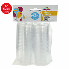 90 Shot Cups BPA Free Clear Plastic Party Mini Cup Glass 40ml Disposable