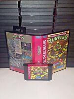 Teenage Mutant Ninja Turtles Streets of Rage 2 Game for Sega Genesis! Cart & Box