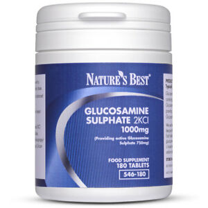 Pure Glucosamine Sulphate 2KCl 929mg- Fantastic Value For UK-Made 180 Tablets