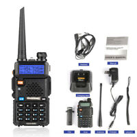 BAOFENG UV-5R UPGRADE UHF VHF Tri Band Two-Way Ham Radio Walkie Talkie 128CH UK