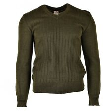 Original Czech army pullover M85 V-neck sweater brown NEW