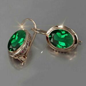 925 Silver Ruby Ear Hook Drop Dangle Earrings Cubic Zirconia Anniversary Jewelry