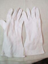 Vintage white cotton Ladies Gloves Embroidery work