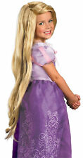 Licensed Tangled Rapunzel Long Blonde Wig Girls Halloween Fancy Dress Up Costume