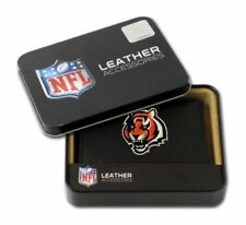 Cincinnati Bengals Trifold Leather Wallet Embroidered Color Logo Rico Industries