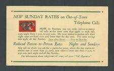 1936 New Telephone Rates Save On Calls After 7 & Save On Sunday