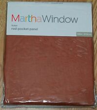 """MARTH STEWART WINDOW """"FLUTTER """" ROD-POCKET PANEL, COPPER BROWN, 50"""" X 84"""""""