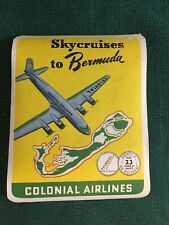 VINTAGE AIRLINE STICKER...Colonial Airlines...nice condition!