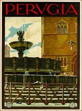 Perugia Italy Italia Italian Vintage Travel Advertisement Art Poster Print