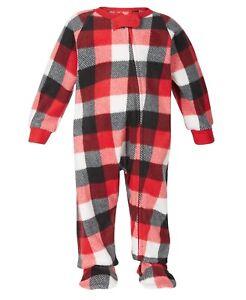 Matching Family PJs Buffalo Check One Piece Christmas Pajama - 18 Months #7018
