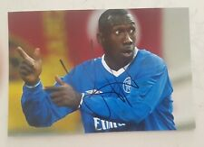 "Jimmy Floyd Hasselbaink Soccer Signed In Person 4x6 Inch Photo Coa ""Genuine"""
