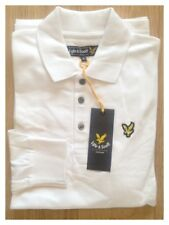 Lyle & Scott Long Sleeve Polo Shirt White 2xl