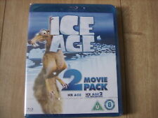 ICE AGE + THE MELTDOWN 2 DISC COMBO BLU RAY MOVIE SET KIDS FAMILY FUN CHILDREN