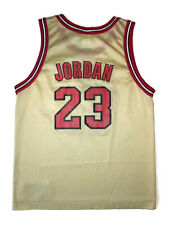 Champion Michael Jordan Jersey Chicago Bulls Gold Red All Star Youth Large 14-16