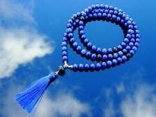 More details for lapis natural dyed gemstone mala necklace prayer healing stone chakra 108 beads