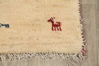 Tribal Nomad Solid Gabbe Oriental Area Rug Wool Hand-Knotted 2x4 NEW Carpet