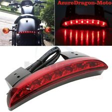 Red Lens Fender Edge Chopped LED Tail Light Brake Light For Harley Sportster XL