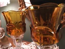 Home Interiors Dark Gold/Amber Lotus Peg Votive Cup - Set of Two