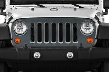 Vinyl Graphics Decal Grille Wrap for Jeep Wrangler Rubicon Grill Skin 07-16 GRAY