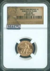 2009 D LINCOLN CENT FORMATIVE YEARS Penny NGC MS68 SMS RED MAC Quality✔️